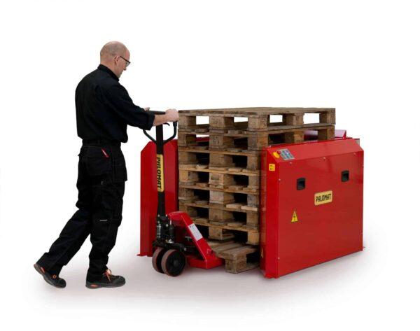 Dispenser pneumatic pentru 1 palet 1200x800 sau 1000 mm - fara rama de siguranta - pallet magazine