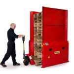 Dispenser pneumatic pentru 1 palet 1200x800 sau 1000 mm - maxim 15 paleti - pallet stacker