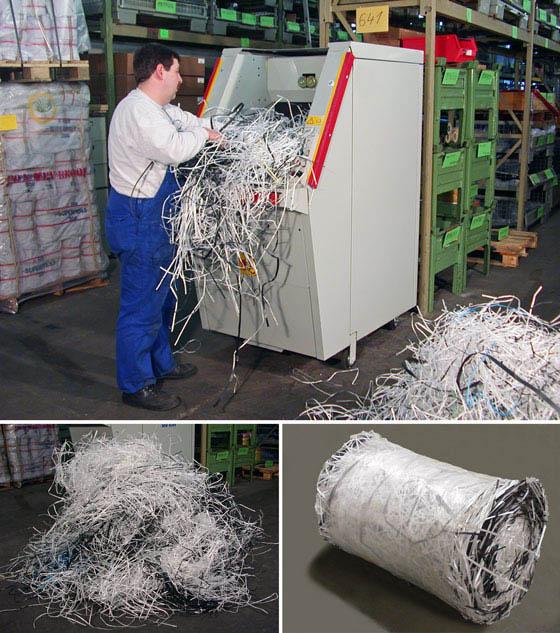 Compactor de deseuri in role CDR 400 - compactare sfori din plastic