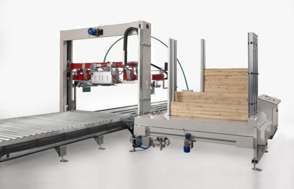 Maşină verticală automată de legat cu bandă