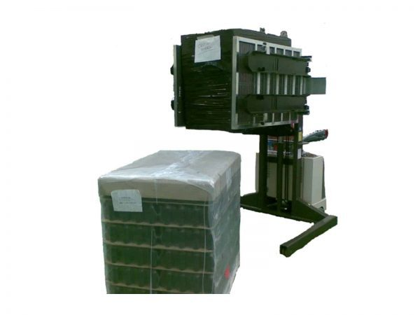Mobile pallet inverters dual press