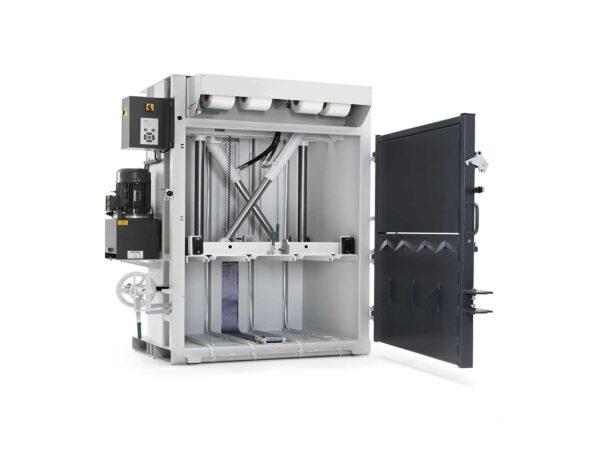 Automatic vertical baling press