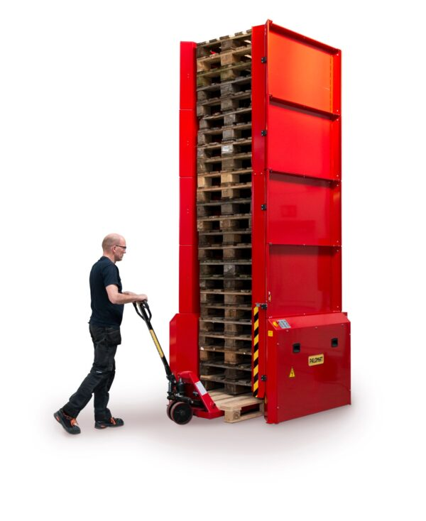 Electric dispenser for 1 pallet 1200x800 or 1000 mm- maximum 25 pallets- automatic pallet handing