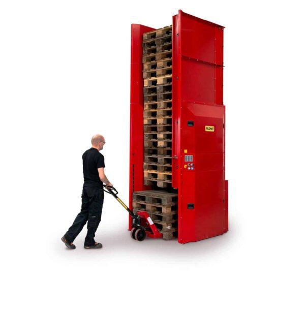 Electric dispenser for 5 pallets- maximum 25 pallets- automatic pallet handling