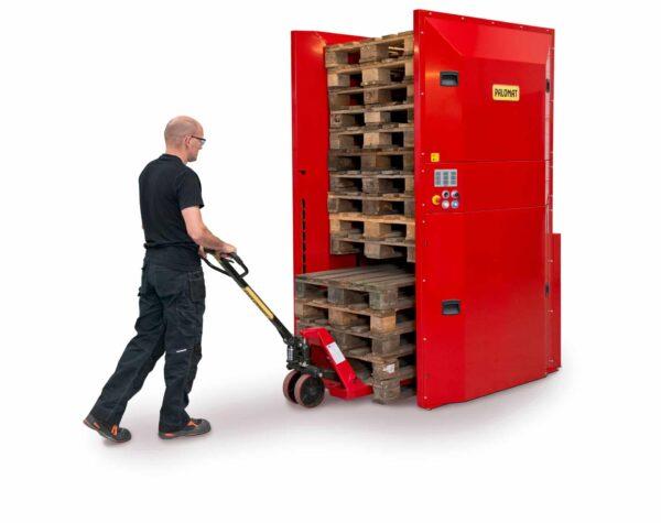 Electric dispenser for 5 pallets- maximum 15 pallets - automatic pallet handling