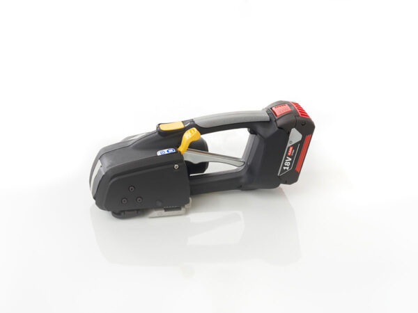 Battery powered manual strapping instrument