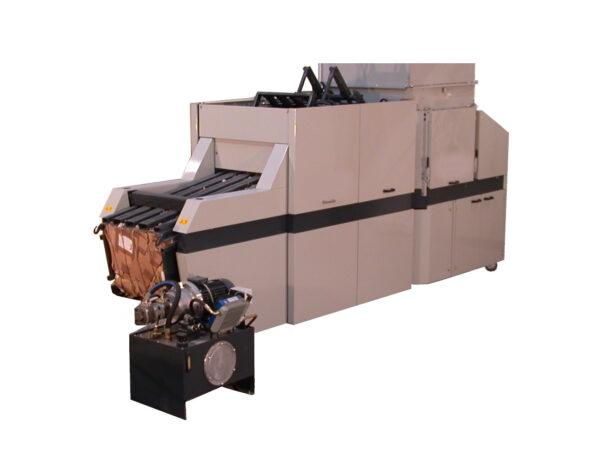Horizontal baling press for waste POD 800