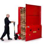 Pneumatic dispenser for 1 pallet 1200×800/1000 mm - maximum 15 pallets - pallet stacker