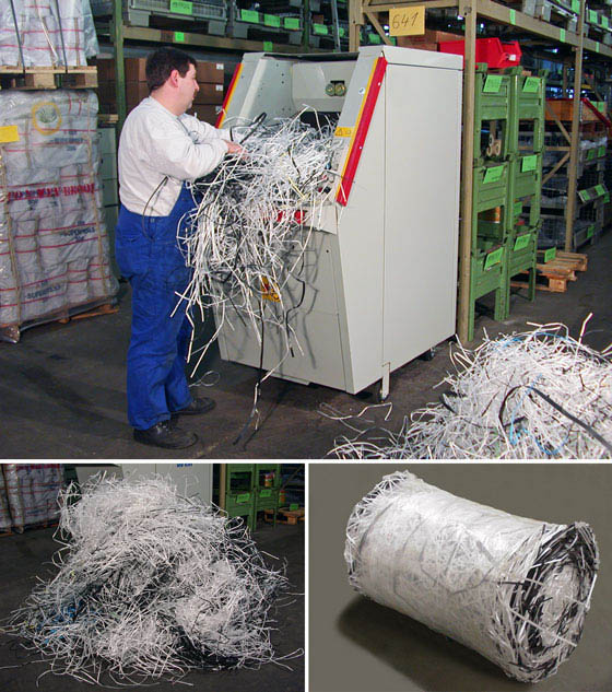 Waste roll compactor CDR 400 - plastic string compaction