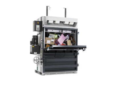 Vertical bale presses
