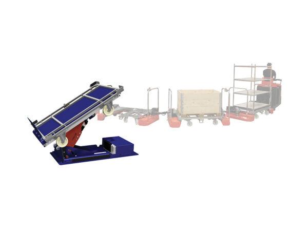 Armlift for tugger train LT 260