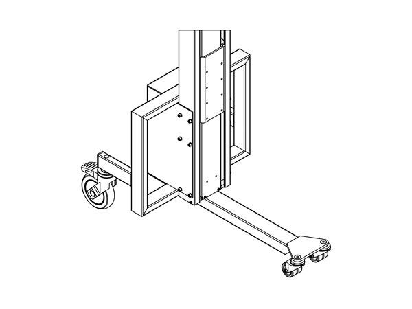 Centre leg frame