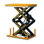Double scissor lift table 210