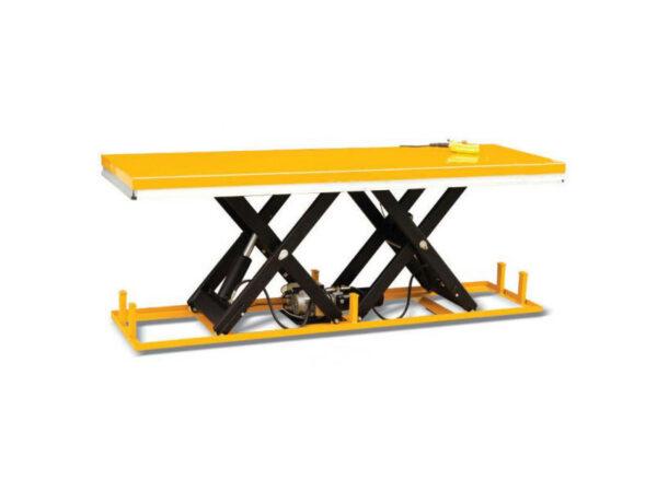 Double scissor lift table 360
