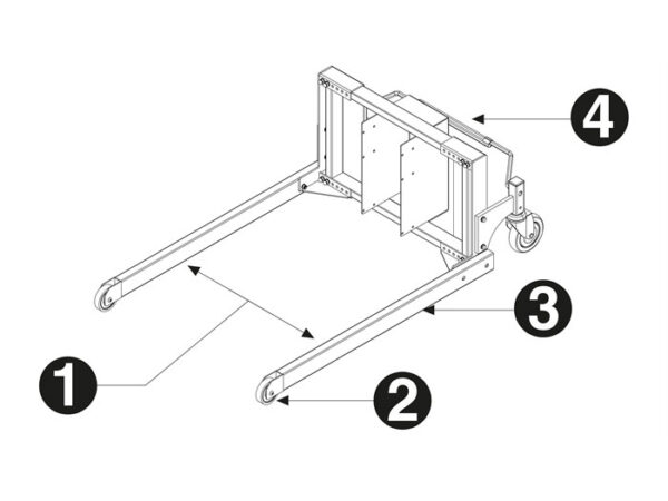 Flex leg frame