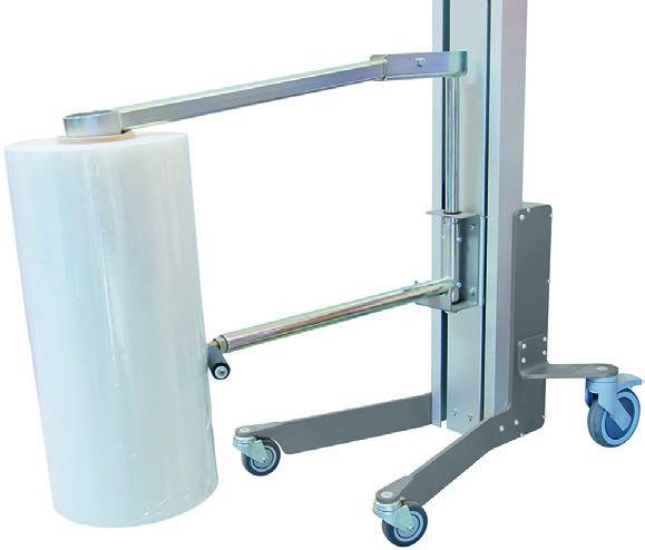Reel handler in stainless steel with 15° swing