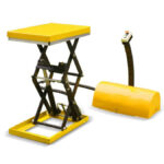 Small double scissor lift table 98