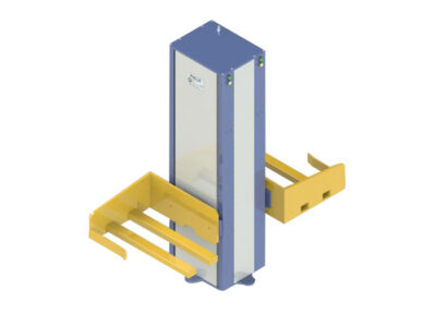 Pneumatic double lifting device