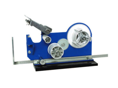 Bench dispensers for single and double-sided adhesive tapes with protective liner