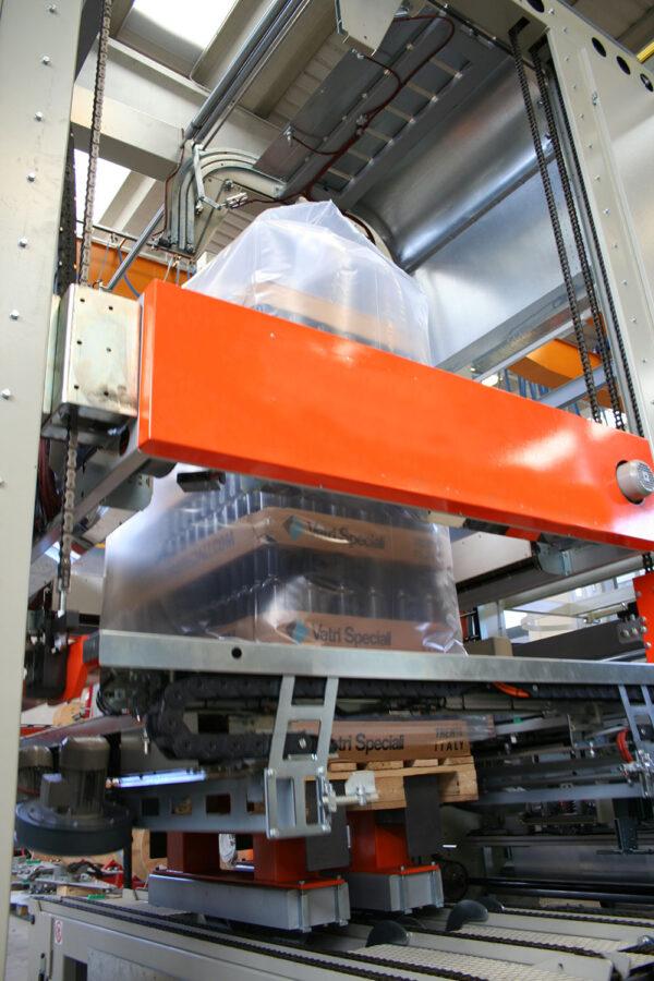 Automatic termoshrinking hooding machine SHR530 Duo Glass