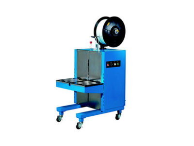 Semi-automatic strapping machine with PP, PET or metalic