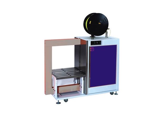 Semi-automatic strapping machine with PP and PET LM 120 Lateral