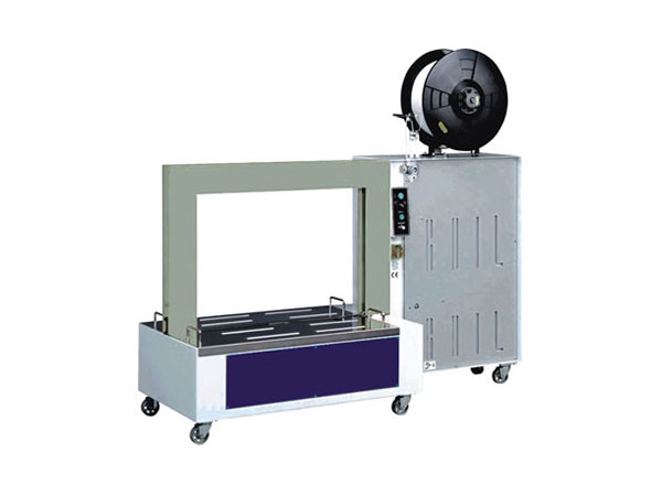 Semi-automatic strapping machine with PP and PET LM 400