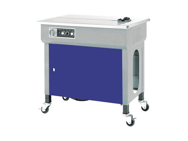 Semi-automatic strapping machine with PP and PET LM 600 grey blue