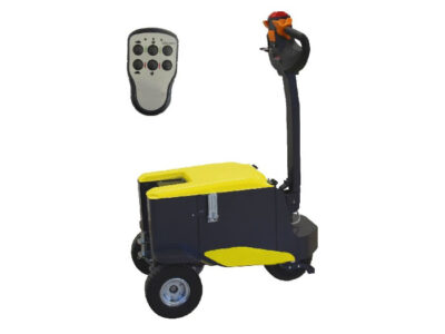 Electric tow tug tractors with pedestrian operator